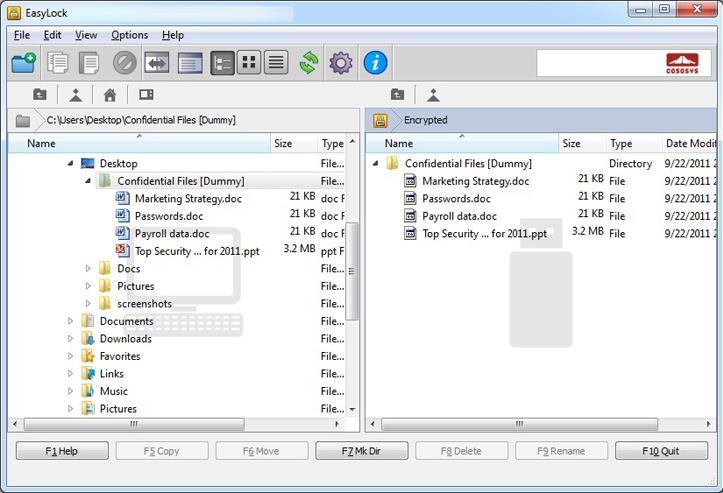 EasyLock Portable Data Encryption Access Restriction Software