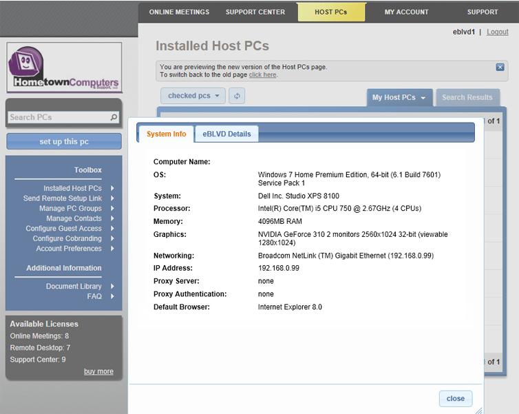 Other Utilities Software, eBLVD Support Center HelpDesk Screenshot
