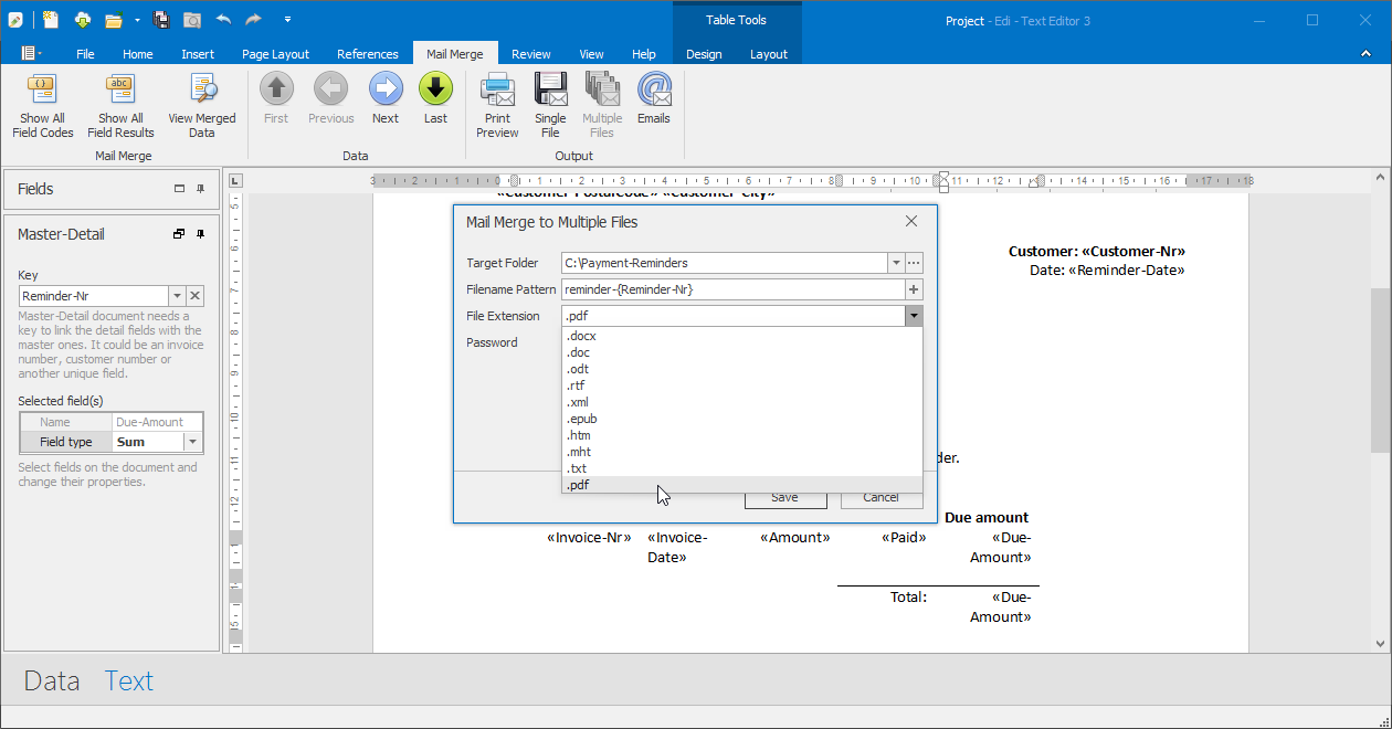 Business & Finance Software, Edi - Text Editor Screenshot