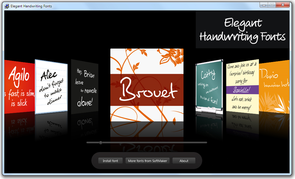 Elegant Handwriting Fonts Screenshot