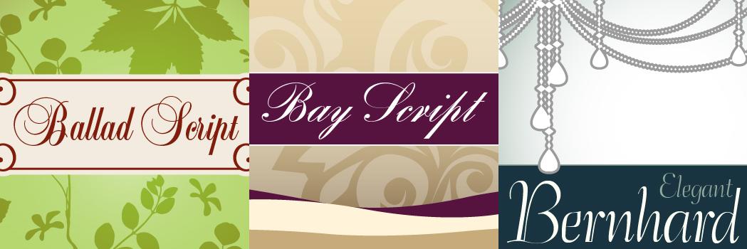 Elegant Script Fonts, Design, Photo & Graphics Software Screenshot