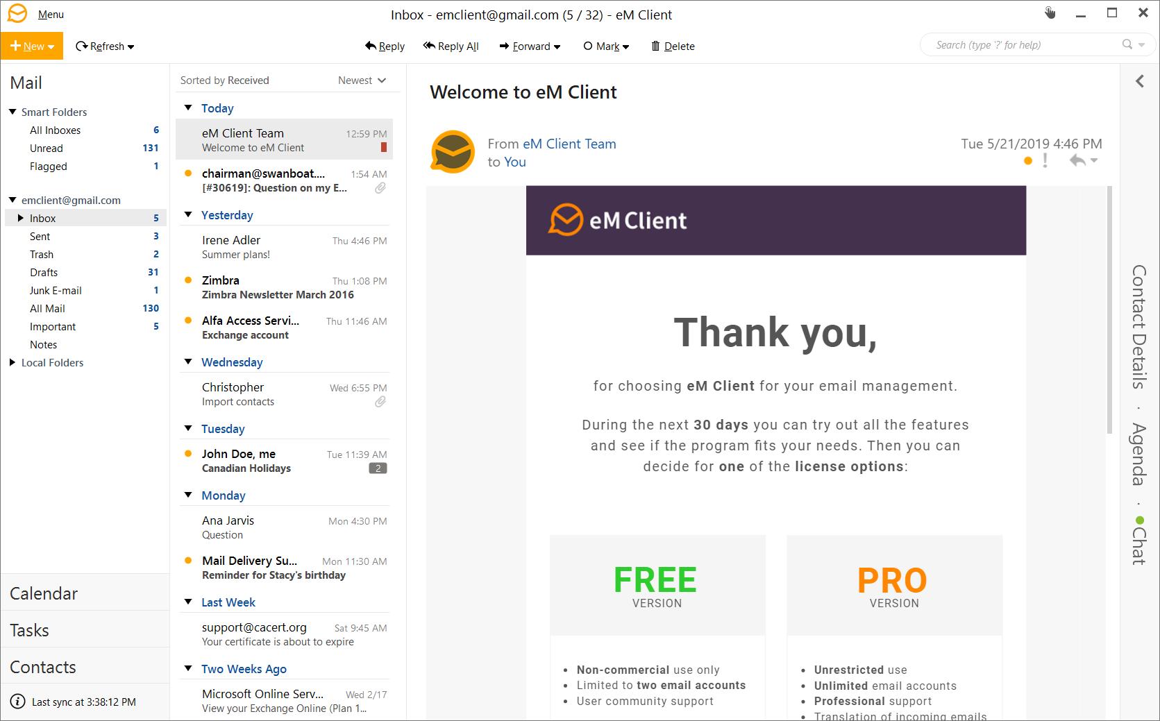 eM Client 7 Screenshot 8