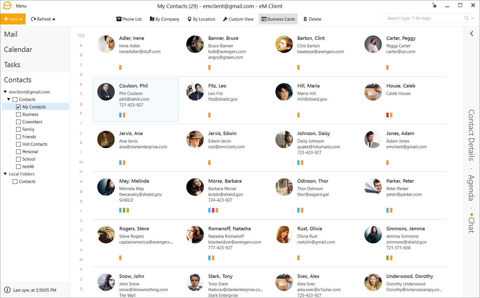 Internet Software, eM Client 7 Screenshot