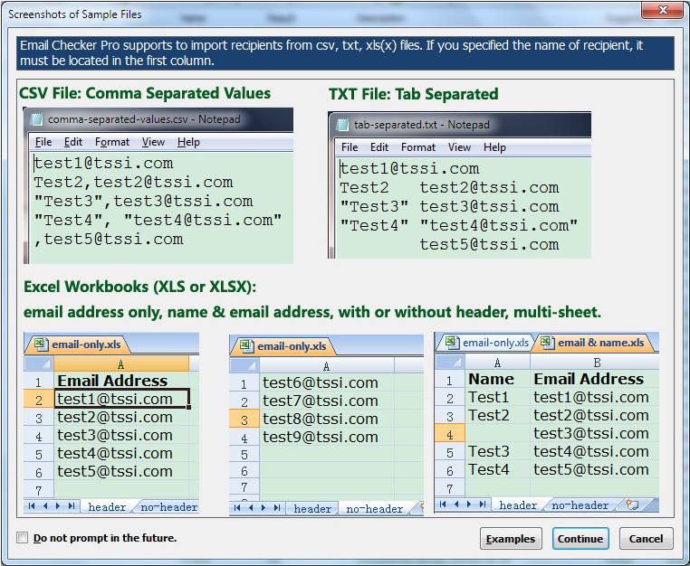 Email Tools Software, Email Checker Pro Screenshot