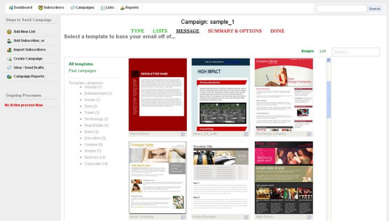 Internet Software, Email Marketing Software Screenshot