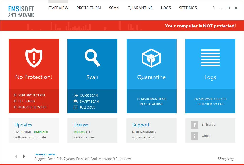 Emsisoft Anti-Malware Screenshot 9