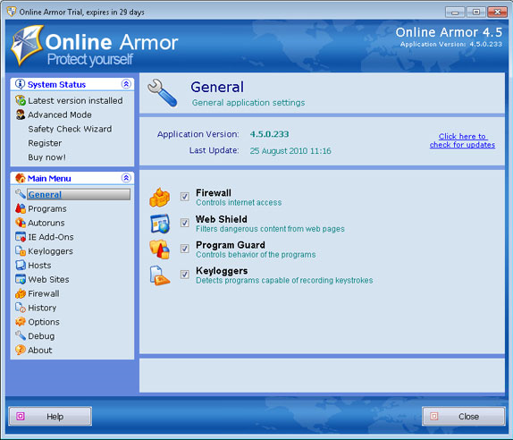 Emsisoft Anti-Malware & Online Armor Firewall Bundle, Antivirus Software Screenshot