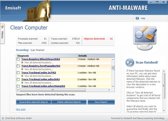 Emsisoft Anti-Malware & Online Armor Firewall Bundle Screenshot