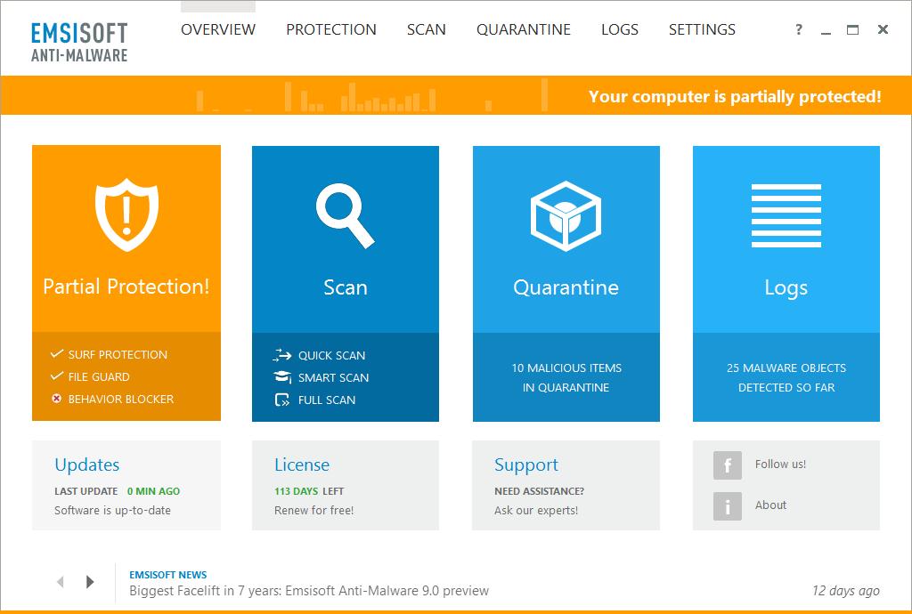Emsisoft Anti-Malware Screenshot 8