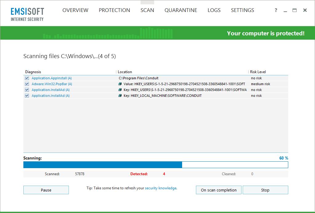 Emsisoft Internet Security, Access Restriction Software Screenshot