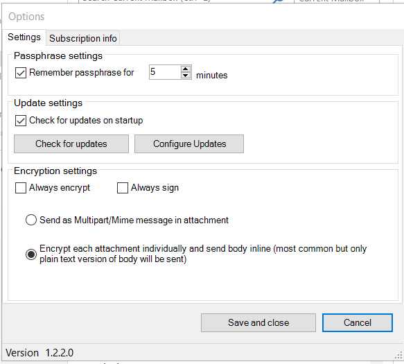 Encryptomatic OpenPGP for Microsoft Outlook Screenshot