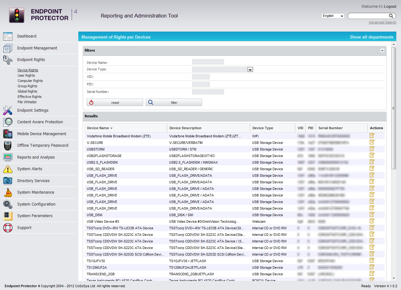 Network Security Software Screenshot