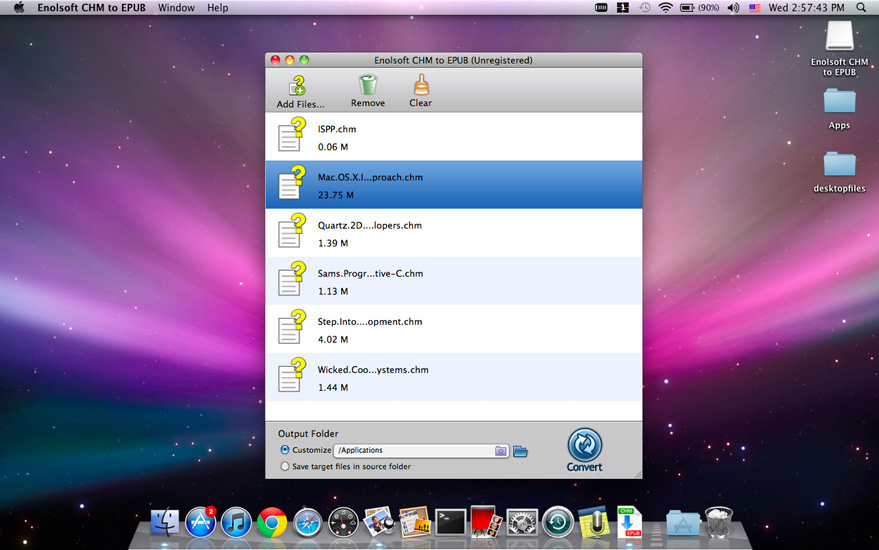 Enolsoft CHM to EPUB for Mac Screenshot
