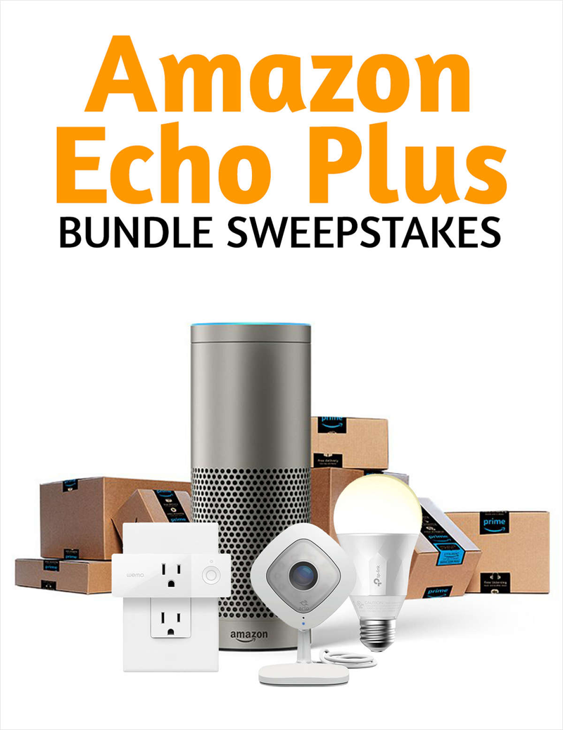 Enter to Win Amazon Echo Smart Home Bundle Sweepstakes ($500 Value) Screenshot