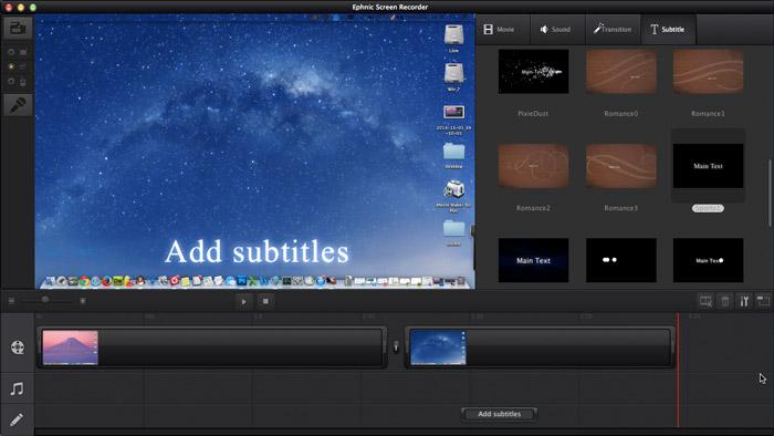 Ephnic Screen Recorder, Video Software Screenshot