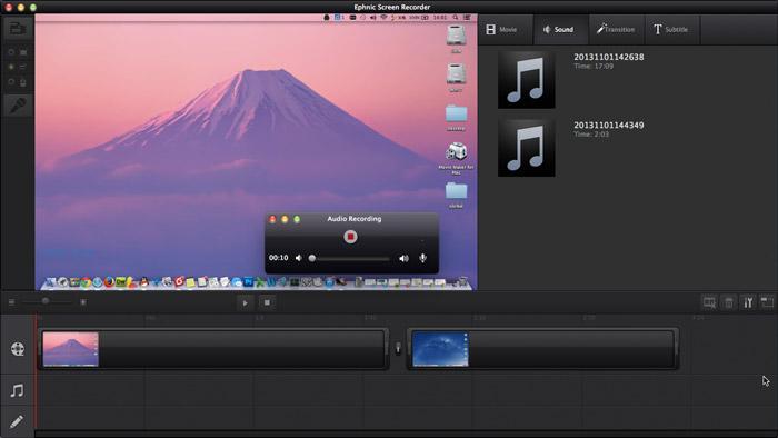 Ephnic Screen Recorder, Video Capture Software Screenshot