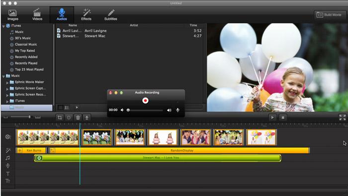 Video Editing Software, Ephnic Movie Maker Screenshot