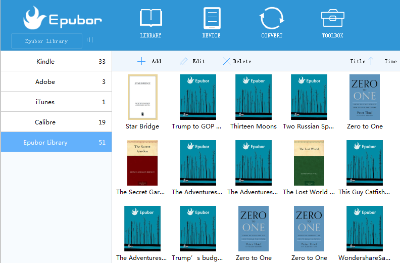 Epubor eBook Manager Screenshot