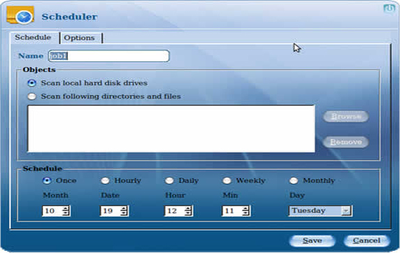 eScan for linux Desktops, Access Restriction Software Screenshot