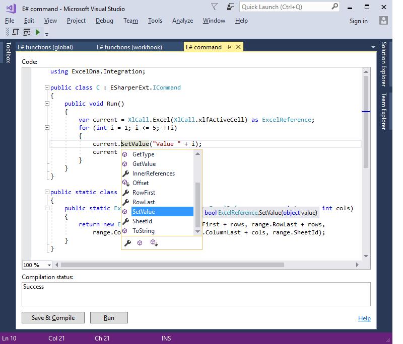 ESharper, Excel Add-ins Software Screenshot