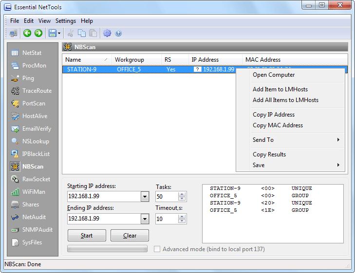 Essential NetTools Screenshot 9
