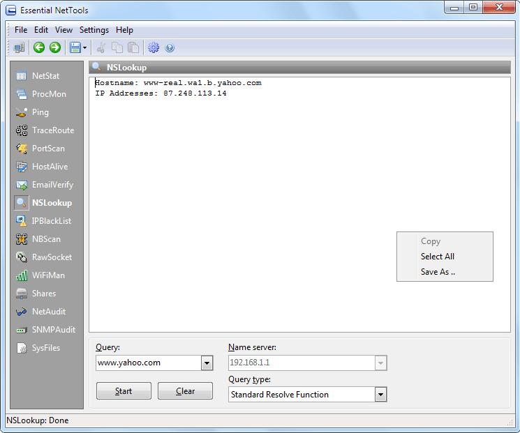 Essential NetTools, Internet Software, Network Software Screenshot