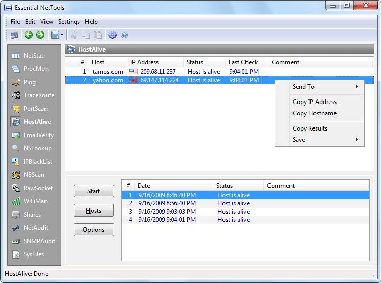 Internet Software, Essential NetTools Screenshot