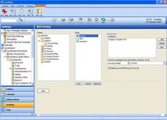 Internet Software, Email Client Software Screenshot