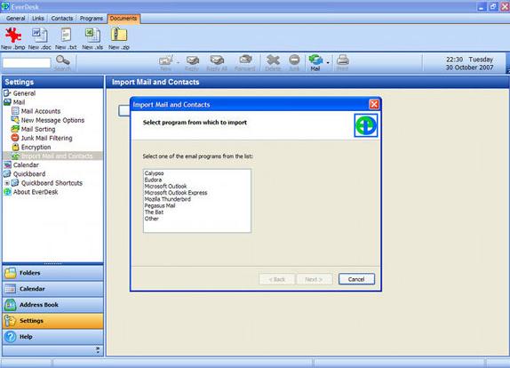 EverDesk Mail, Email Client Software Screenshot