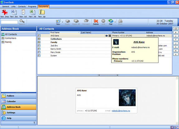 Email Client Software Screenshot
