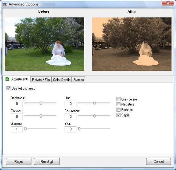 EvJO Photo-Image Resizer, Design, Photo & Graphics Software Screenshot