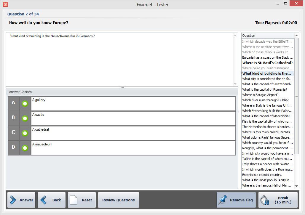 Educational Software, ExamJet Quiz Maker - Standard Edition Screenshot