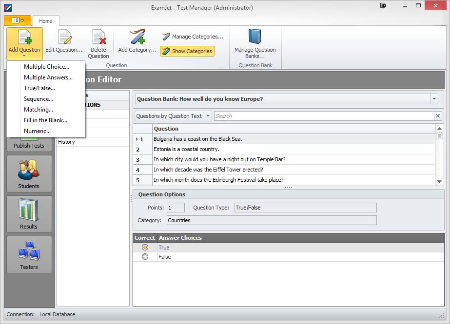 ExamJet Quiz Maker - Standard Edition Screenshot