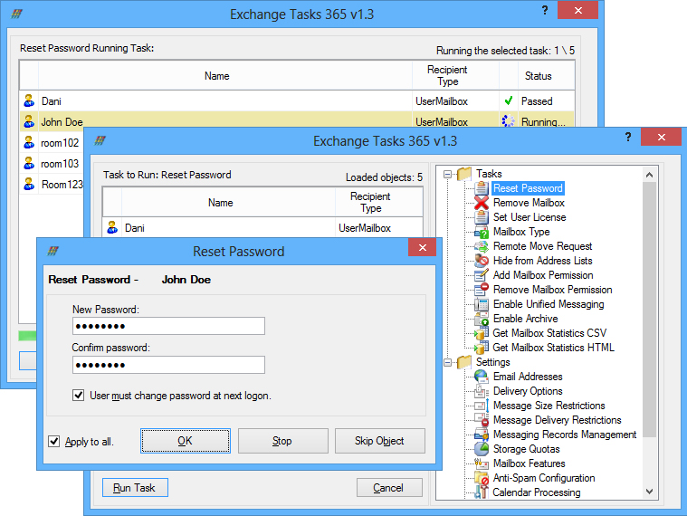 Exchange Tasks 365, System Stability Software Screenshot