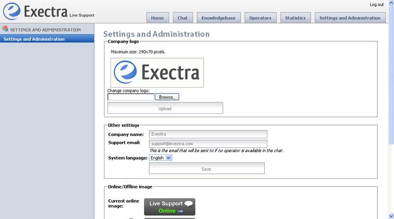 Business & Finance Software, Exectra Live Support Screenshot