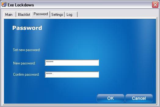 Executable Lockdown, Security Software Screenshot