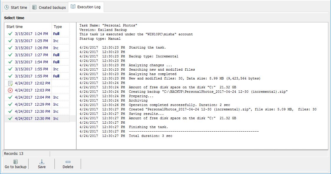 Security Software, Backup and Restore Software Screenshot
