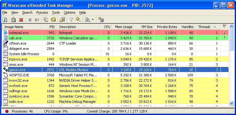 Task Manager Software Screenshot