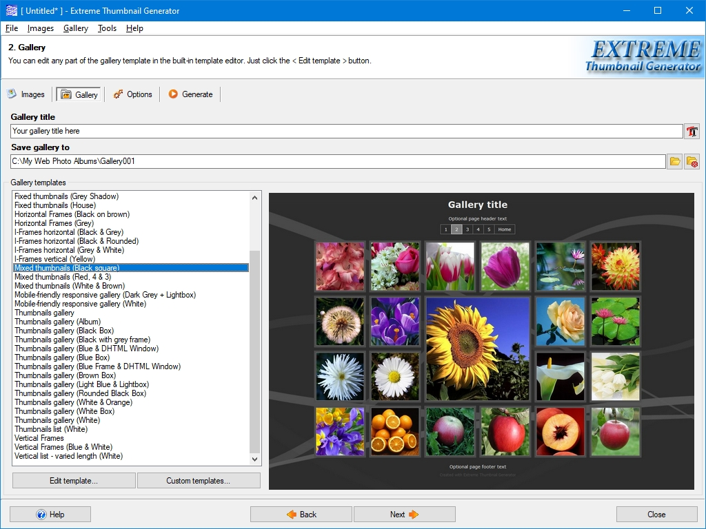 Thumbnail Software Screenshot