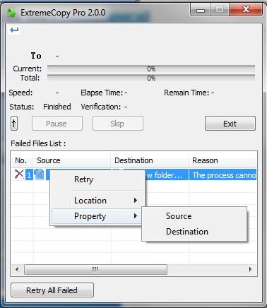 ExtremeCopy Pro Screenshot
