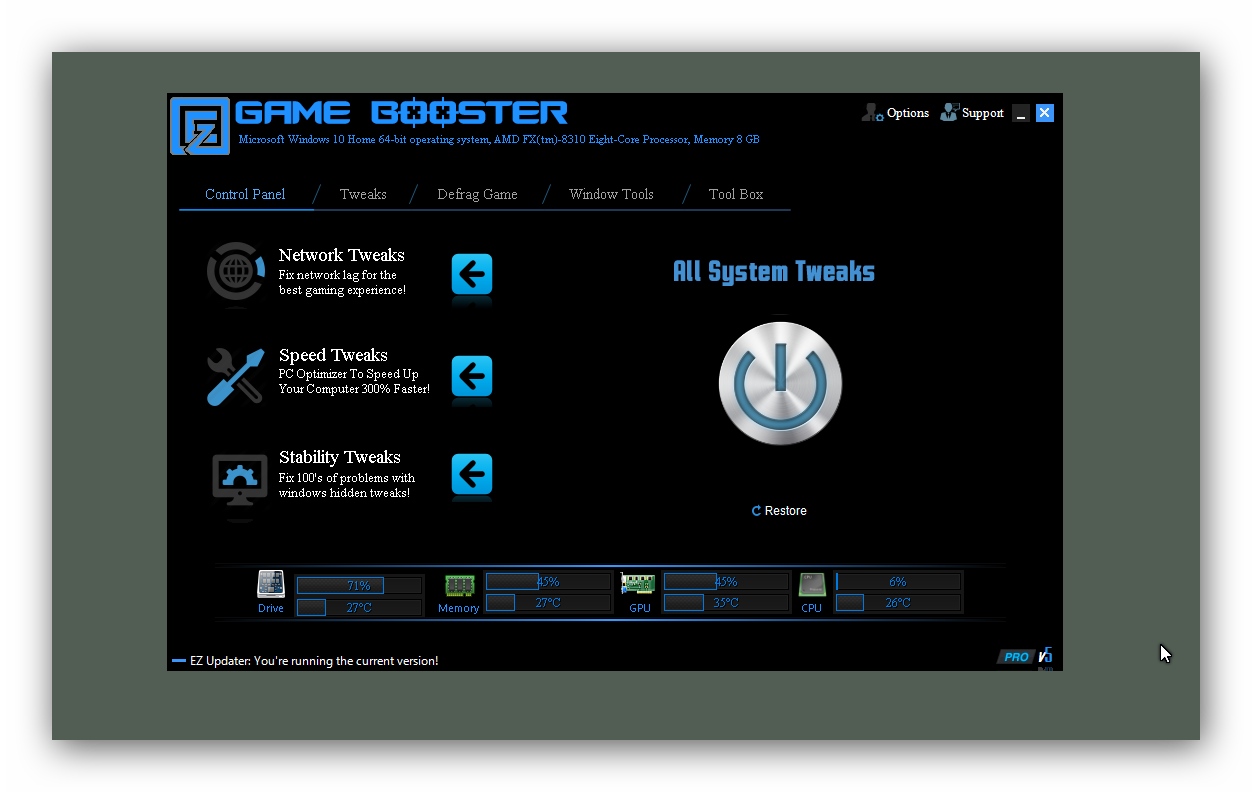 EZ Game Booster Screenshot