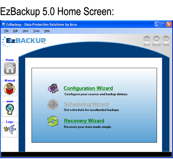 EzBackup 5.0 Screenshot