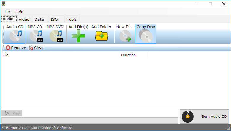 Video Software, EZBurner Screenshot
