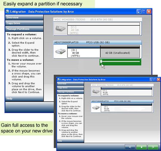 EzMigration, Backup and Restore Software Screenshot