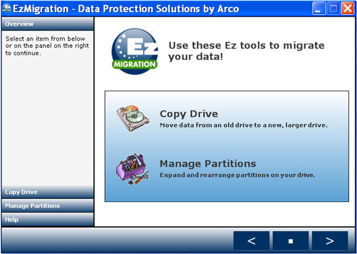EzMigration Screenshot