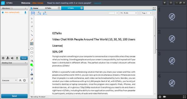 EZTalks, File Sharing Software Screenshot