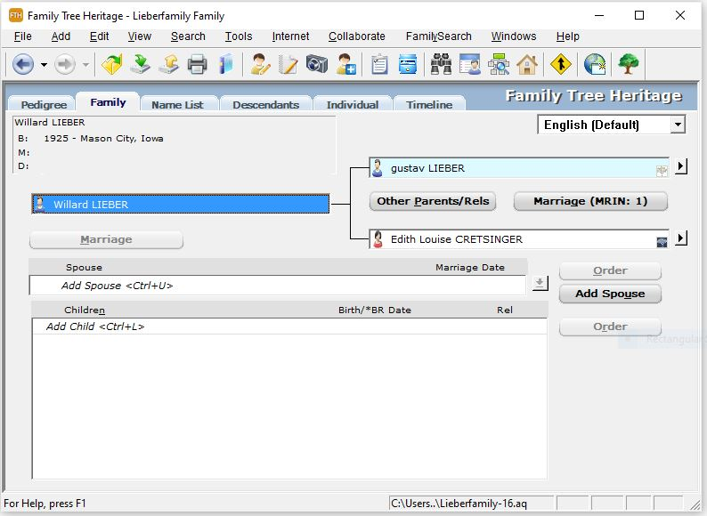 Family Tree Heritage Gold, Other Utilities Software Screenshot