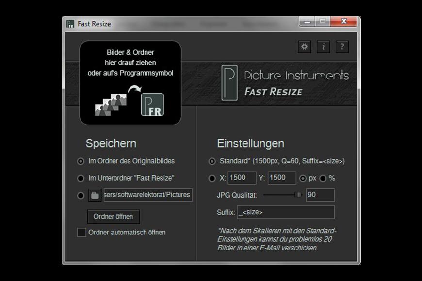 Fast Resize Screenshot