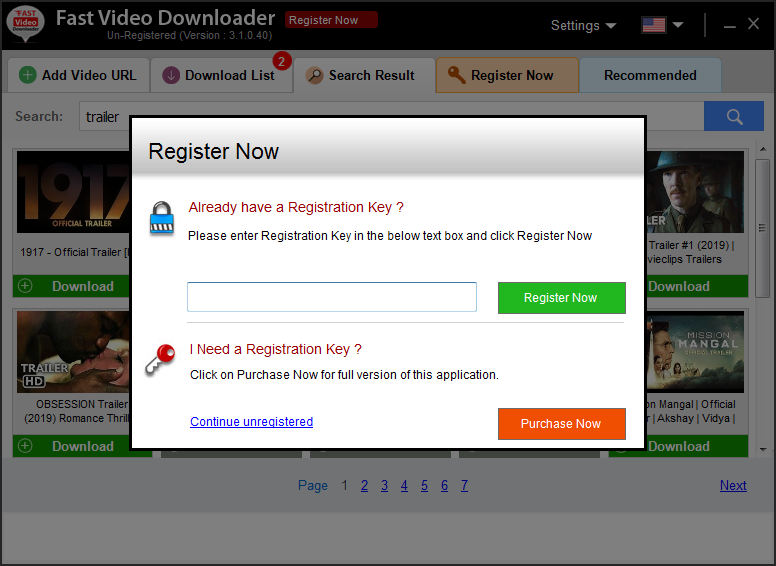 Fast VD by FastPCTools, YouTube Downloader Software Screenshot