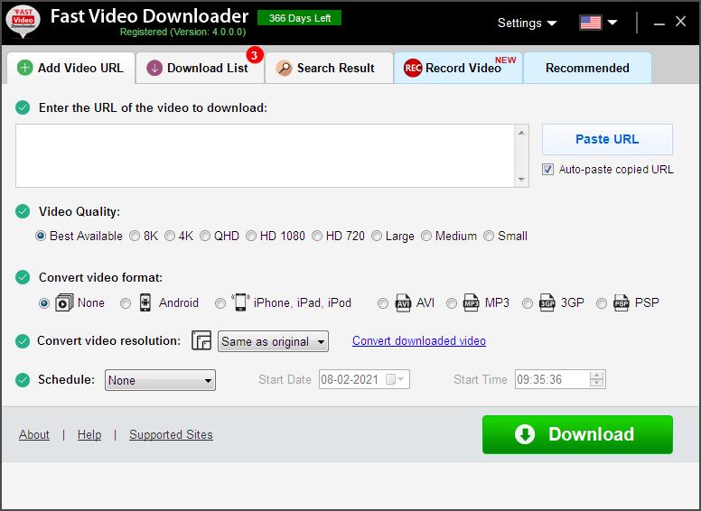 Fast Video Downloader Screenshot